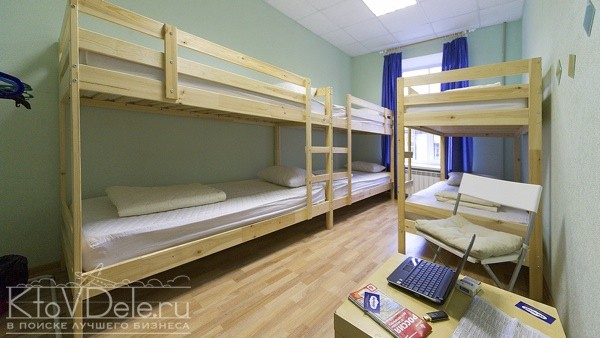 Двухярусные кровати в хостеле