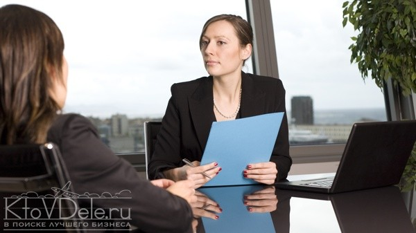 Собеседование в кадровом агентстве