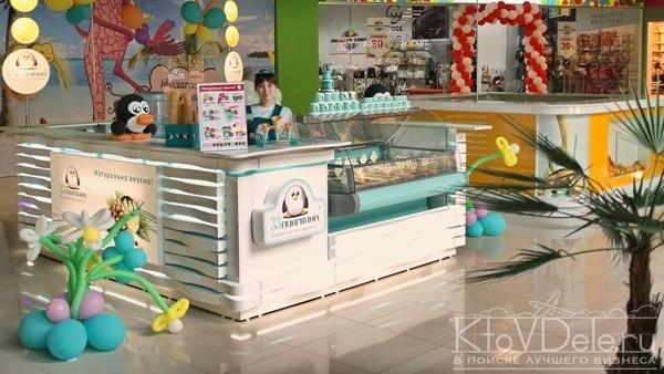 Продажа мороженого по франшизе 33 пингвина