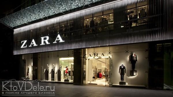 Дизайн магазина Zara