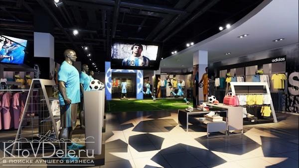 Оформление магазина по франшизе Adidas