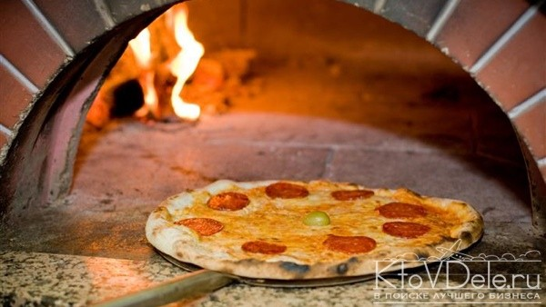 Готовка пиццы в печи