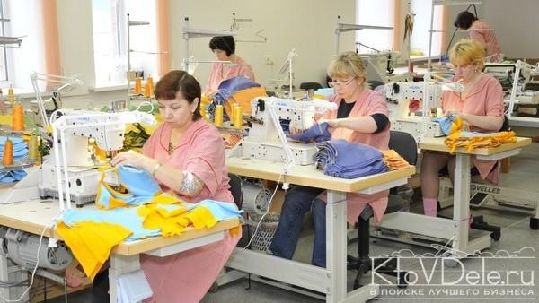 швейных цех в работе