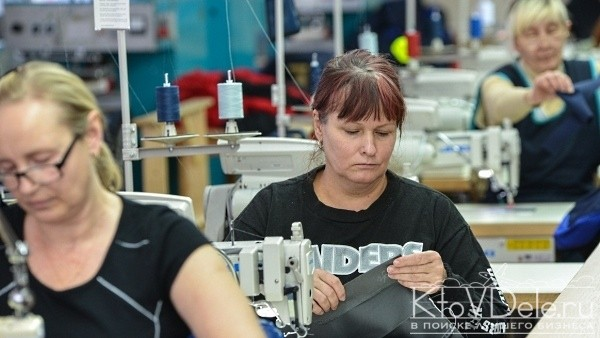 Работа на швейном производстве
