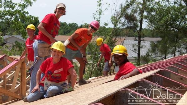 Женская строительная бригада