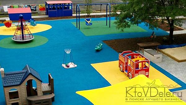 детская площадка в развивающем центре