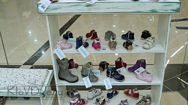 витрина с детской обувью