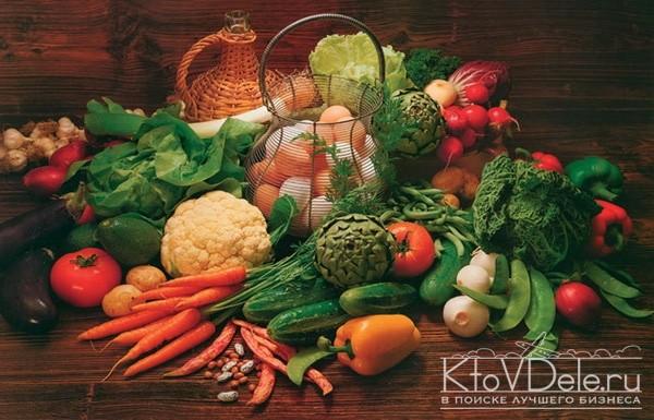 красивый натюрморт из овощей