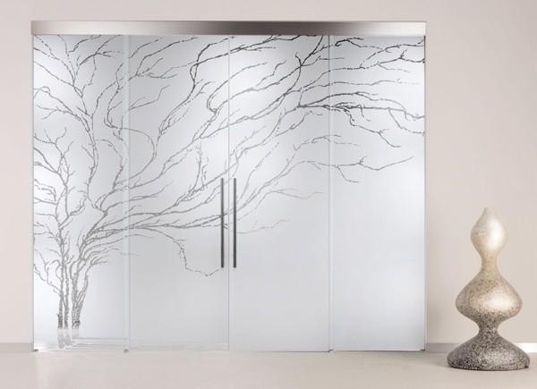 матирование стекла