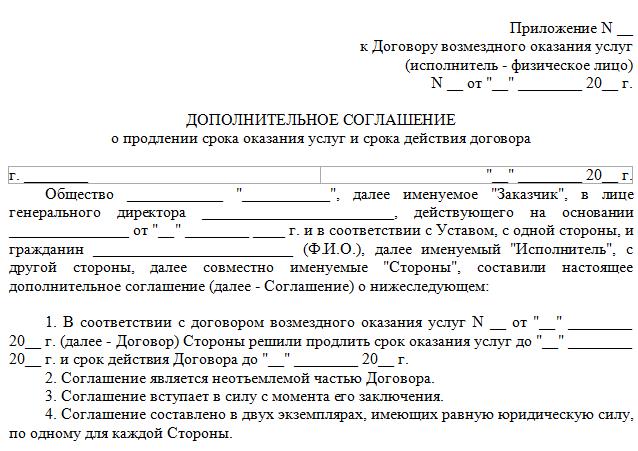 пример договора с ип