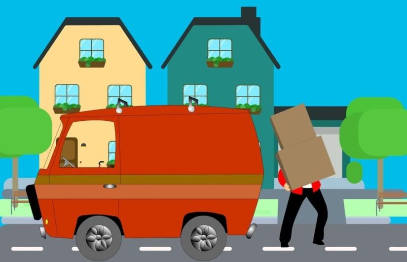 иллюстрация служба доставки в интернет-магазине
